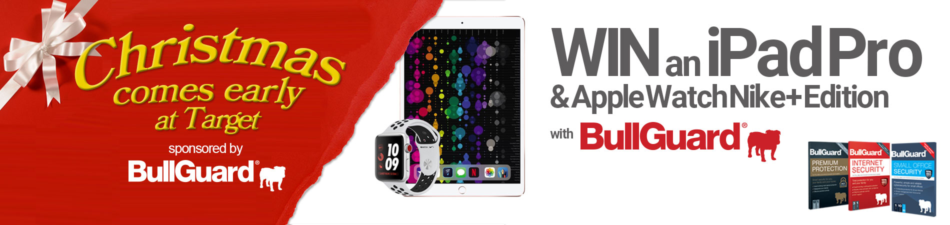 Win an iPad Pro and Apple Watch with BullGuard Internet Security at Target
