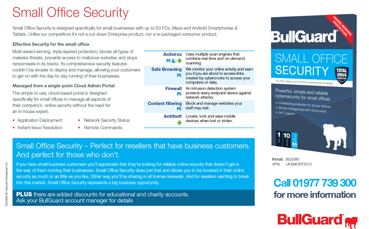 BullGuard Small Office Security for Android iOS and Windows at Target Components