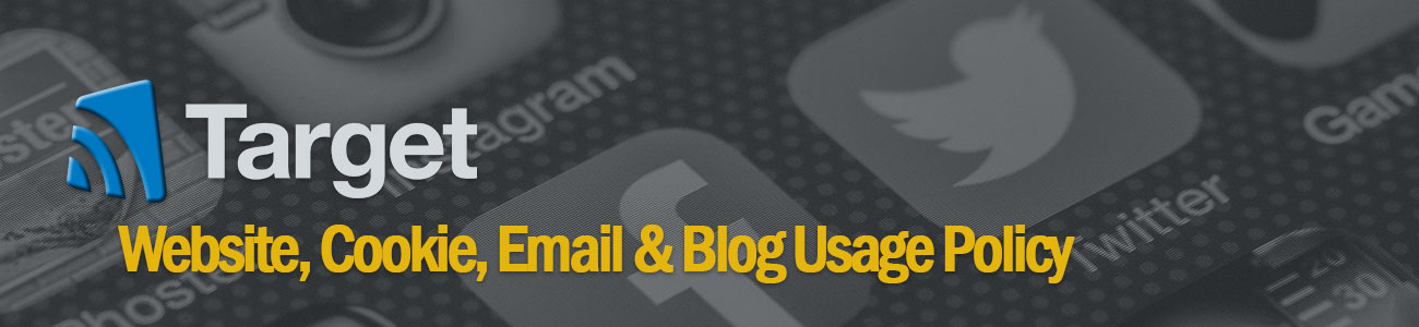 Website Cookie Email & Blog Usage Policy
