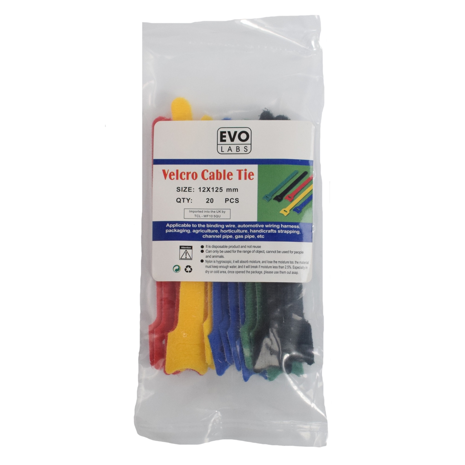 Target Components The Uks Leading Trade It Distributor Wire Harness Ties Evo Labs 20 Pack Of 125 X 12mm Multicolour Retail Package Packaged Velcro Cable