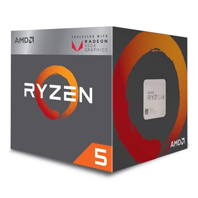 Procesador CPU AMD RYZEN 5 2400G Quad Core 3.6Ghz (3.9Ghz Turbo) Radeon Vega 11 AM4 65w