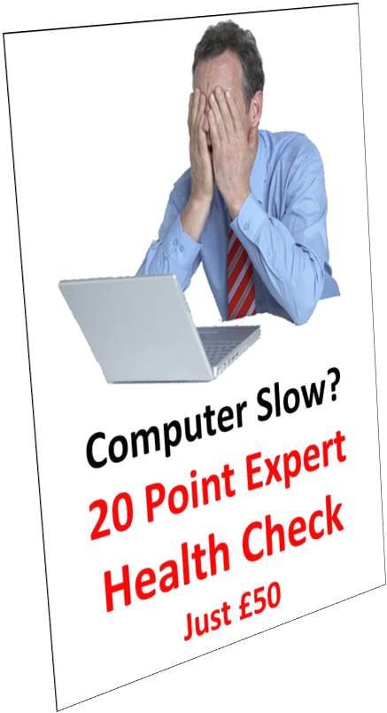 You don't just do PC Health-Checks, you do 20 Point Expert PC Health-Checks