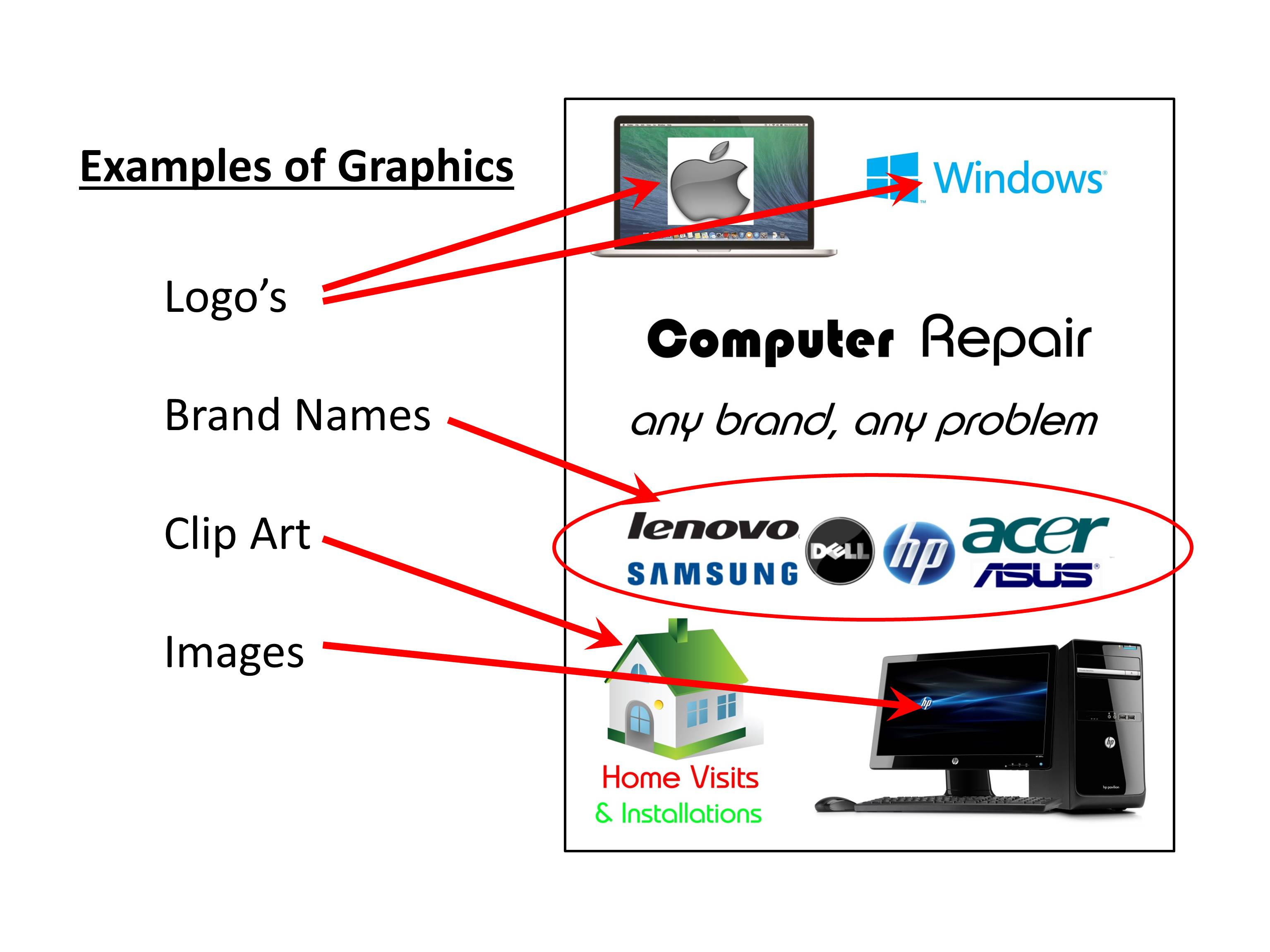 Posters and signs in windows must be clear, so graphics have to be used with care – it's very easy to clutter a design