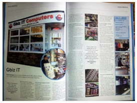 What he got was a two page article in the April 2013 edition of PC Retail Magazine