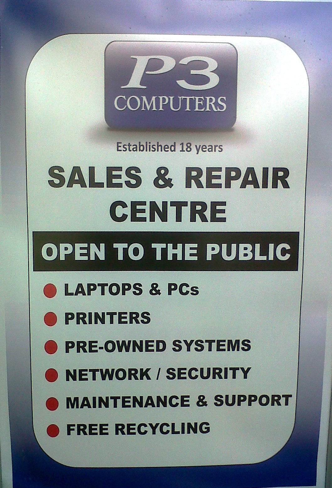 The scope for Best External Signage Award: pretty much anything that isn't related to your shop window ot paid advertising