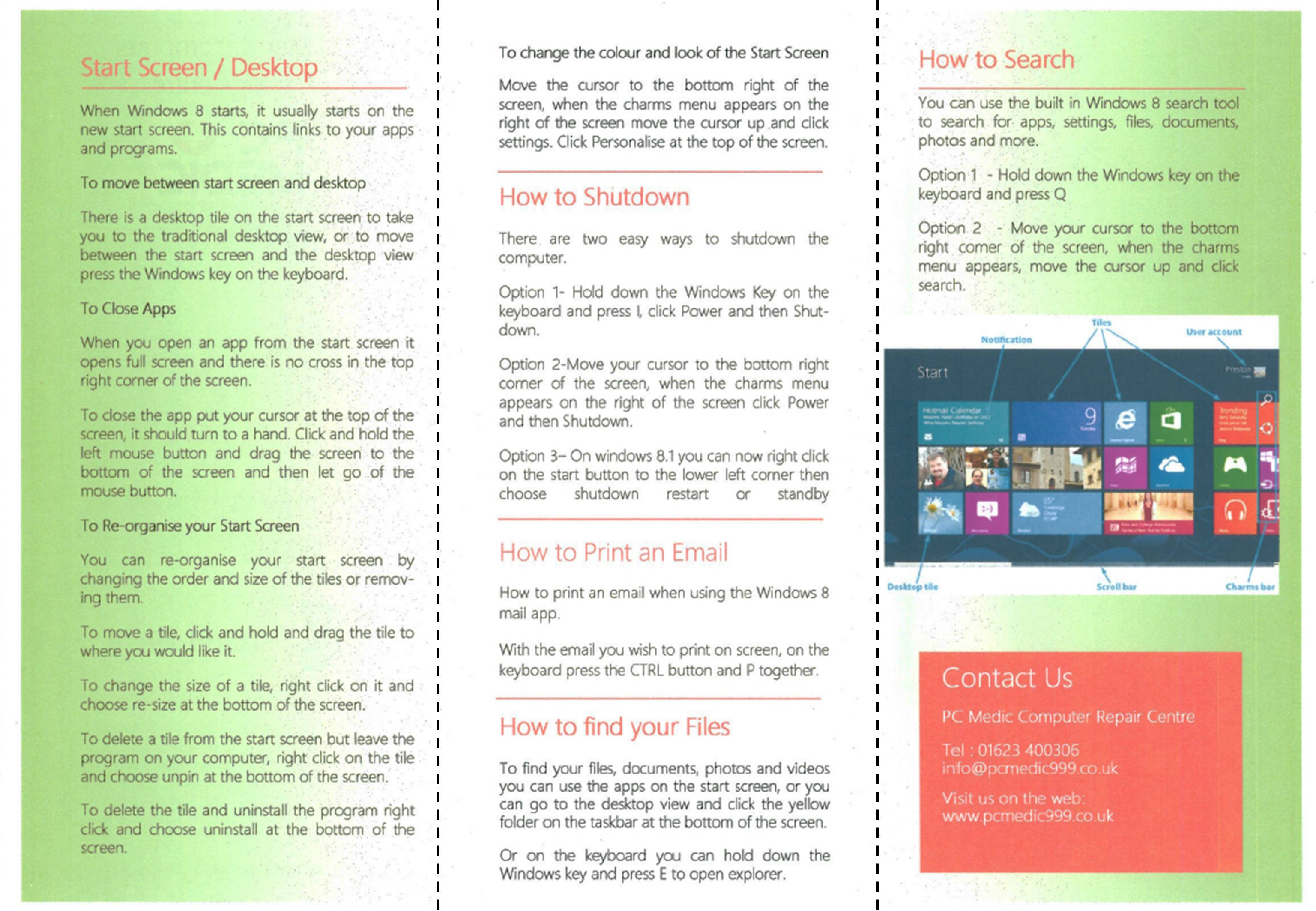 Windows 8 - the perfect reason to give free advice