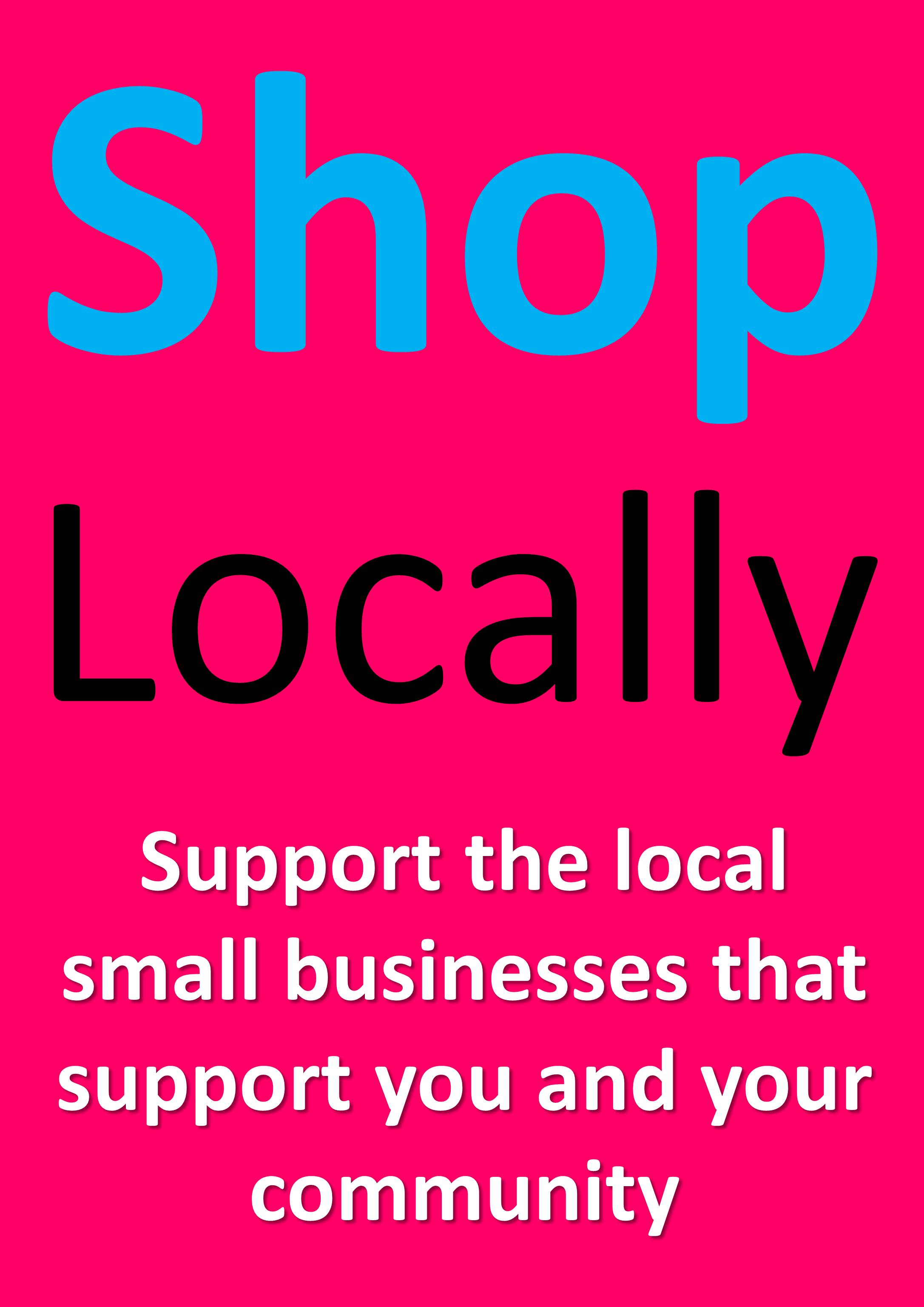YOU have to go out of your way to tell people you're a local business