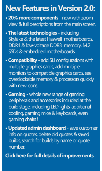 New features in the In-Store PC Builder